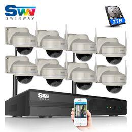 Cctv Wifi Ip Australia - P2P Plug And Play 8CH Wireless NVR Kit 960P 1.3 MP HD Outdoor 30 IR Vandal-proof Dome IP Camera WIFI CCTV Camera Surveillance System