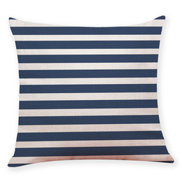 high quality beds UK - Home Bedroom Pillow Cover Dark Blue Style Throw Pillowcase Pillow Covers For Bed Linen Blend 45 * 45cm High Quality 10JUL 13 Case