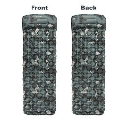 Wholesale NEW Sleeping Pad Compact Outdoor Camping Backpacking Air Pad Lightweight Inflatable Sleeping Mat Ultralight Portable Hiking