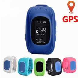 Children Baby Kids Smart Watch Phone NZ - Kids Smart Watch GPS Children Watch Phone Sim Card LED Baby Smart SOS Call Location Finder Anti Lost Passometer Wristband