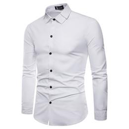 Double Shirt Designs Canada - Fashion Unique design Slim fit Double collar Comfortable Casual Lapel Shirt New mens shirts regular fit Spring Autumn Hot Sale