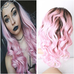 Discount Brown Pink Ombre Hair Brown Pink Ombre Hair 2019 On Sale