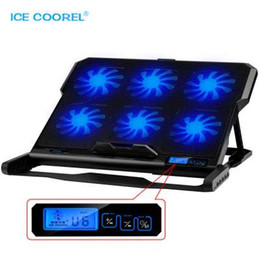 Discount china notebook new - New Laptop cooler 2 USB Ports and Six cooling Fan laptop cooling pad Notebook Stand for nch