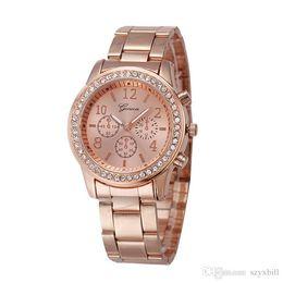 $enCountryForm.capitalKeyWord UK - Set auger ladies watches Women Luxury New Geneva Ladies Quartz Gifts For Girl Full Stainless Steel Rhinestone wrist watches
