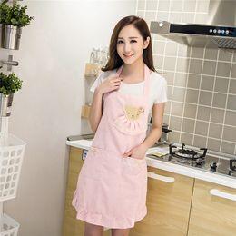 $enCountryForm.capitalKeyWord Australia - Women Lady Kitchen Apron Dress Restaurant Home Kitchen For Pocket Cooking Funny Cotton Apron Bib Dining Room Barbecue Hot Sale