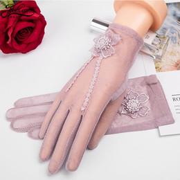 $enCountryForm.capitalKeyWord Australia - Joolscana sensony gloves women lace gloves summer white black wrist flower 2018 top brand quality sun protect uv hot selling