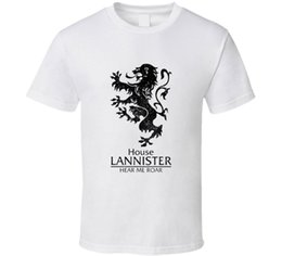 Tv Clothes NZ - House Lannister T Shirt Tee Clothing Got Game of Thrones Tv Fan Gift New From US Loose Black Men Tshirts Homme Tees