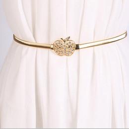 Estilo moderno apple forma strass elástico na cintura decoração cintura cadeia de cinto para mulheres elegantes roupas acessórios
