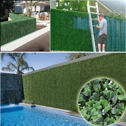 Artificial Plants Trees NZ - 25CM*25CM Artificial Grass plastic boxwood mat topiary tree Milan Grass for garden,home ,Store,wedding decoration Artificial Plants