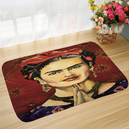 head portraits NZ - Bath Mat Head Portrait Printed Mat 50x80cm Toilet Carpet Absorbent Shower Bathroom Outdoor Rugs Doormat Kitchen Floor Mat