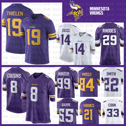 Stitched 14 Stefon Diggs 22 Harrison Smith Minnesota Jersey Vikings 8 Kirk  Cousins 84 Randy Moss 19 Adam Thielen 33 Cook Hughes Hunter Barr 522a16ac5