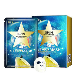 Face Mask Peels Off Australia - DHL 6lot Star Mask Glitter Glow Star Whitening Mask Sequin seaweed Black Face Mask Peel off Moisturize Skin starry sky Health Care