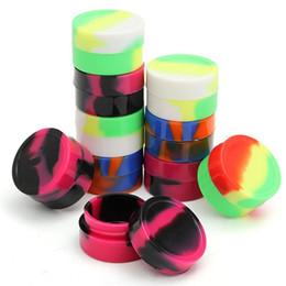 $enCountryForm.capitalKeyWord Australia - 10pcs Lot 5ml Non-stick Silicone Ball Container For Wax Bho Oil Butane Vaporizer Dab Silicon Jars Cream Emulsion Storage Box