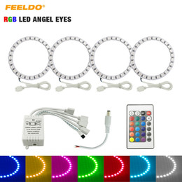 toyota camry lights Canada - FEELDO Car RGB LED Angel Eyes Halo Ring Light Wireless Remote Control Headlight for Toyota Camry (Euro US) 07 Camry (US) #3100
