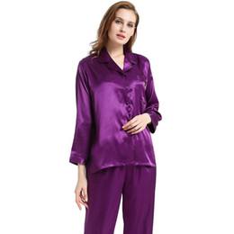Plus Size Satin Pajamas UK - Womens Silk Satin Pajamas Set Pajama Pyjamas  Set PJS Sleepwear bad48dbf7