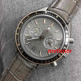 Discount men limited watches chronograph - Fashion Brands Men Luxury For Dial GREY SIDE OF THE MOON Quartz Chronograph Gold Geneva Watch Limited Edition Sport Relo