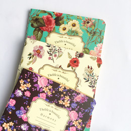Discount languages learning - Flower Garden Blank Kraft Paper Notebook Recite Words Learn Foreign Language Planner Student School Office Supply