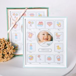 9199661e2b03 First Year Baby Picture Frame Newborn Baby Photo Frame Creative Memory with  13 Photos Growing Up Birthday Gift