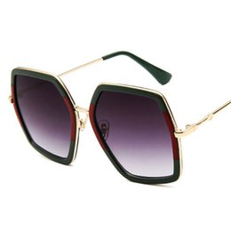 a502133d43 Fashion Brand design Luxury Sun Glasses Ladies Oversized Crystal Sunglasses  Women Big Frame Mirror Sun Glasses For Female UV400