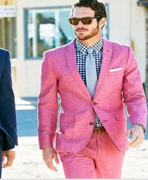 Plus Size Linen Suit NZ - Latest Coat Pant Designs Light Blue Linen Wedding Suits for Men Casual Beach Terno Slim Fit Groom Custom 3 Piece Tuxedo Vestidos