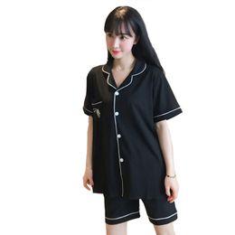 $enCountryForm.capitalKeyWord UK - NEW Summer Pajamas Pyjamas Set Women Cotton 2PCS Sleepwear Negligee Shirt&Shorts Home Wear Suit Casual Sweet Nightwear M-XL