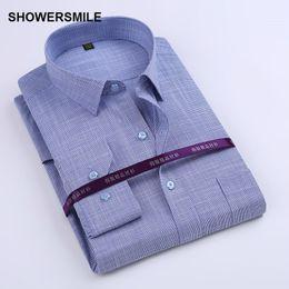 $enCountryForm.capitalKeyWord NZ - Wholesale-SHOWERSMILE Brand Clothing Bamboo Fiber Shirt Mens Long Sleeve Slim Fit Formal Party Dress Shirt Korean Fashion Cotton Blending