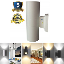 Discount Outdoor Lighting Sconces   LED Up Down Wall Sconce Light Outdoor  Lamp Fixture External Patio