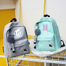 a19ec6f2a251 Bts Exo Got7 Backpacks Women Wanna One Kpop K-pop Twice K Pop Monsta X Backpack  School Bag Back Pack For Teenager Sac A Dos Girl