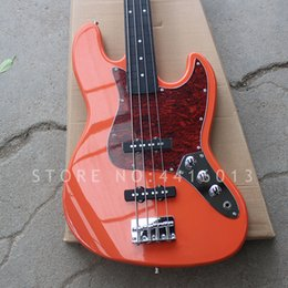 Basswood eBony fingerBoard online shopping - New Top quality factory custom red color strings electric JAZZ bass with ebony fingerboard musical instument shop