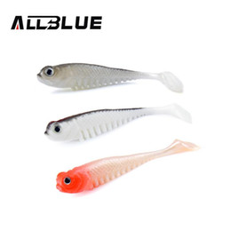 soft lures shad Canada - 10pcs lot 2.6g 7.5cm Soft Bait Fish Fishing Lure Shad 3D Eyes Soft Silicone Tiddler Bait Swimbaits Plastic Lure Pasca