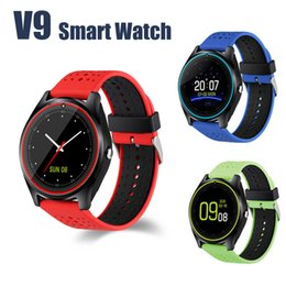 Wholesale V9 smartwatch android SIM Intelligent mobile phone watch Pedometer Health Sport Clock Hours Men Women Bluetooth Smart watches
