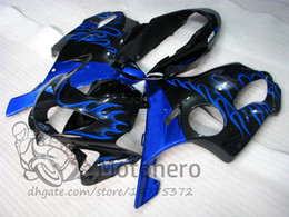 Honda F4 Australia - Injection molding Free Gifts Bodywork For HONDA CBR600 F4 1999 2000 CBR 600F4 99 00 Blue Flames L319 CBR 600 F4 99-00 FS Fairing Kit