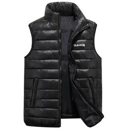 Body Warmer Coats Canada - 2018 Winter Men's Sleeveless Vest Big Size S-6XL Homme Casual Cotton Coats Male Cotton-Padded Body Warm Waistcoat Jackets XCZ30