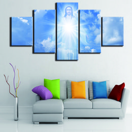 $enCountryForm.capitalKeyWord UK - HD Printed Jesus Coming Canvas Painting Modern Home Wall Art Picture 5 Panel No Frame Room Poster Decorative Painting