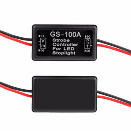 GS-100A 12--24V Flash Strobe Controller for LED Flashing Back Rear Brake Stop Light Lamp Car Accessories for motor bike