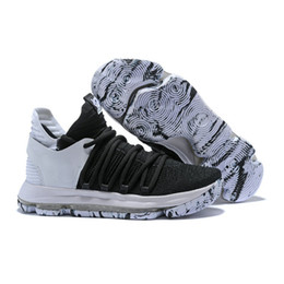 1e634ba43b7b8a KD 10 Aunt Pearl All Star Marbled Sole BHM City Edition Multi-Color  Doernbecher Numbers Oreo Red Olive Igloo Basketball Shoes With Box