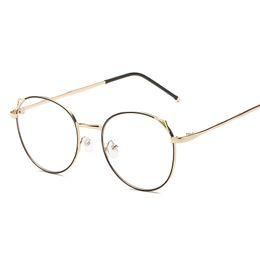 73c0402223c Vintage Round Glasses frame Female Brand Designer gafas De Sol Spectacle  Plain Glasses Gafas eyeglasses eyewear