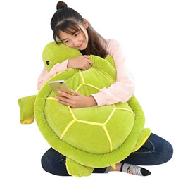 big plush turtles NZ - Dorimytrader Soft Animal Tortoise Plush Pillow Big Stuffed Cartoon Green Turtle Toy Doll Gift for Kids Decoration 31inch 80cm DY61986