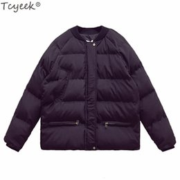 women s winter clothes 2019 - Tcyeek Women's Down Coon Jackets Winter Warm Jacket 2018 Fashion Early Spring Short Coat Autumn Coats Female Clothing LW