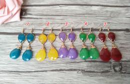 $enCountryForm.capitalKeyWord Australia - Fashion Water Drop Shape opal Crystal Earrings,Dangle Earrings Gem stone charms women Jewelry Druzy ER310