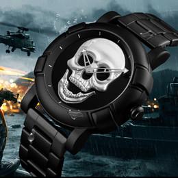 Discount pirates watches - Pirate Skeleton Skull Quartz Men Watches Luxury Waterproof Leather Men Sports Watch For Man Clock Relogio Masculino SKME