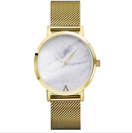 China 2018 Utop2012 Reversed V Letter Marble Griotte Looking Quartz Watch Mesh Belt Simple Luxury Elegant Brand Design Present Gift Christmas A554 supplier new look watches suppliers