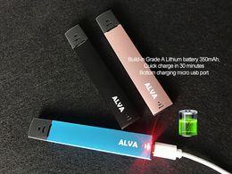 $enCountryForm.capitalKeyWord NZ - Bald Alva Ultra Portable Vape Pen Starter Kit with 350mAh 1.0ml Thick Oil Cartridges Tank Vapor Pod Cartridge USB Charger Vaporizer DHL