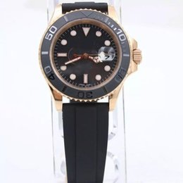 Wholesale 2018 Luxury rose gold Rubber Fashion Master mm Ceramic Bezel Mens Watch Sports Men Automatic Watches
