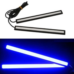 Car led strip waterproof 12v online shopping - Waterproof LED Outdoor pc Cool White White Blue Red CM Universal COB LED Car Daytime Running Lamp DRL Driving Strip Light