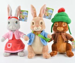 """Toptan satış Sıcak ! Toptan Yeni 3 Stil Peter Tavşan Peluş Bebek Doldurulmuş Hayvanlar Oyuncak Hediyeler Için 11.5 """"30 cm"""