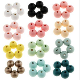 $enCountryForm.capitalKeyWord NZ - 30 Pieces Pack Round Ball Wood Beads DIY Jewelry Craft Making 18mm Spacer Loose Beads Multi Color Choice