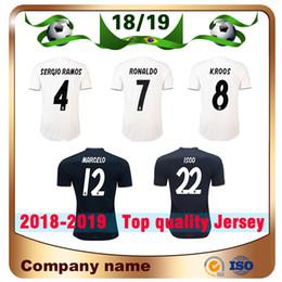 0534d4fdc 2019 Real Madrid home #7 RONALDO soccer Jersey 18 19 away black KROOS  MODRIC MARCELO ASENSIO ISCO Madrid Football shirt uniforms