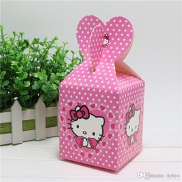 b5d0f16cae45 Wholesale-New 6pcs Baby Shower Favors Hello kitty Favor Box Candy Box Birthday  Party Souvenir Boy Girl Kids Event   Party Supplies