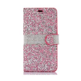 lg diamond wallet 2018 - New Hot For iPhone 8 Galaxy ON5 Wallet Diamond Case iPhone 6 Case LG K7 Stylo Bling Bling Case Crystal PU Leather Card S